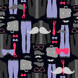 Seamless pattern hipster clothing Stock Photography