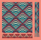 Seamless pattern in hipster colours Stock Photo