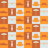 Seamless pattern with hipster elements Royalty Free Stock Image
