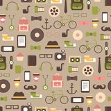 Seamless pattern of hipster vector colorful style Royalty Free Stock Photo
