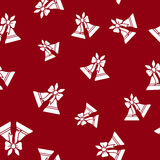Seamless Pattern with Holiday Jingle Bells Royalty Free Stock Images