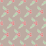Seamless  pattern holly. Background cardboard. Hand draw Royalty Free Stock Photography