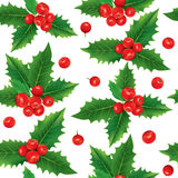 Seamless pattern of holly berries Royalty Free Stock Photography
