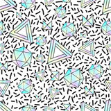 Seamless pattern with holographic elements.  Stock Images