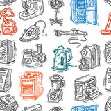 Seamless pattern home appliances Royalty Free Stock Images
