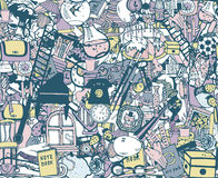 Seamless pattern with home related things. Stock Images