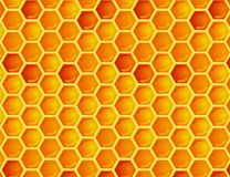 Seamless pattern of honeycomb Royalty Free Stock Photo