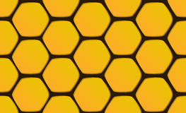 Seamless pattern honeycomb hexagons on black background. Stock Photography