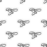 Seamless pattern with honeysuckle Stock Photography