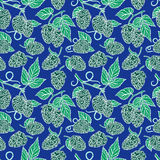 Seamless pattern of hops Royalty Free Stock Images