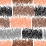 Seamless pattern with horizontal grunge striped rectangular elements Stock Images