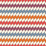 Seamless pattern with horizontal jagged lines. Repeated sharp edges stripes motif. Bright colors waves background. Stock Image