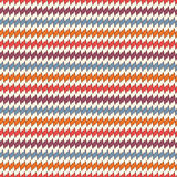 Seamless pattern with horizontal jagged lines. Repeated sharp edges stripes motif. Bright colors waves background. Stock Photo