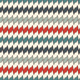 Seamless pattern with horizontal jagged lines. Repeated sharp edges stripes motif. Retro colors waves background. Seamless pattern with horizontal jagged lines royalty free illustration