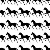Seamless pattern with horse. Endless texture for wallpaper, fill, web page background, surface texture stock illustration