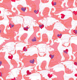 Seamless pattern horse lovers. Royalty Free Stock Photography