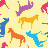Seamless pattern with horses Royalty Free Stock Photos