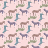 Seamless pattern with horses Stock Image