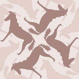 Seamless pattern with horses Stock Photos