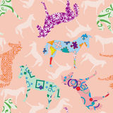Seamless pattern with horses Stock Photography