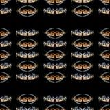 Seamless pattern horses Royalty Free Stock Image