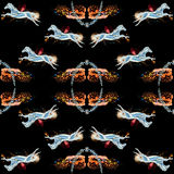 Seamless pattern horses Royalty Free Stock Images