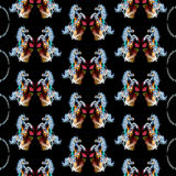 Seamless pattern horses Stock Photography