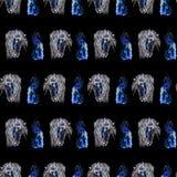 Seamless pattern horses heads Royalty Free Stock Photo