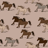 Seamless pattern of horses Royalty Free Stock Photo