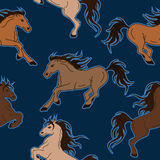 Seamless pattern of horses Stock Image