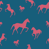 Seamless pattern with horses Royalty Free Stock Photo