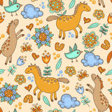 Seamless pattern with horses Royalty Free Stock Photography