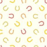 Seamless pattern - horseshoe (good luck symbol). Seamless vector pattern - horseshoe (good luck symbol Royalty Free Stock Photos
