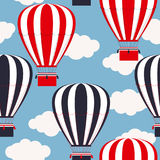 Seamless pattern with  hot air balloons Stock Images