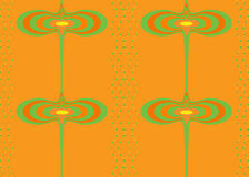 Seamless pattern in hot colors Royalty Free Stock Images
