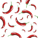 Seamless pattern of hot red pepper Royalty Free Stock Image