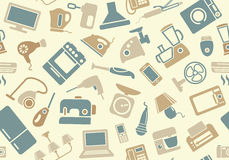 Seamless pattern of household appliances Royalty Free Stock Photo