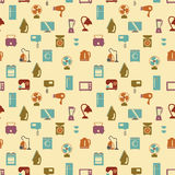 Seamless pattern of household appliances. Washing machine, stove Stock Photography