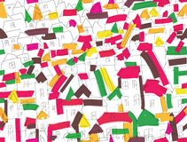 Seamless pattern with houses Royalty Free Stock Photo