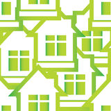 Seamless pattern of houses Stock Photography