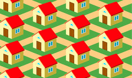 Seamless pattern with houses Stock Photos