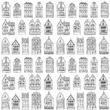 Seamless pattern with houses Royalty Free Stock Images