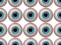 Seamless pattern of human eyeballs. Seamless pattern of blue human eyeballs Royalty Free Stock Photos