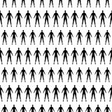 Seamless pattern with human silhouette. vector Royalty Free Stock Photo
