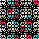 Seamless pattern with skulls Royalty Free Stock Photo