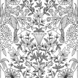 Seamless pattern with hummingbirds and flowers Vector Illustration