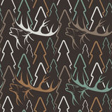 Seamless pattern for hunting theme.. Seamless pattern for hunting theme Stock Images