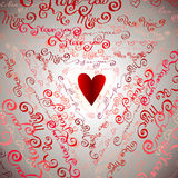 Seamless pattern. I love you words background. Royalty Free Stock Images