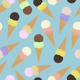 Seamless pattern of ice cones Stock Image