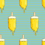 Seamless pattern with ice cream stock illustration